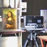 Technique MultiSpectrale appliqué sur Mona Lisa en cours de numérisation