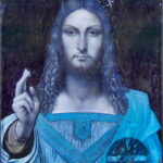 Analyse tableau Salvator Mundi par Infrarouge (False color infrared 2)
